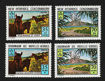 OPC 1973 New Herbrides British & French Sets Sc#177-8 196-7 MNH