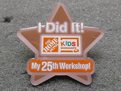 home depot collectibles kids workshop I did it 25th workshop lapel pin