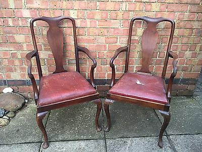 Antique Edwardian Queen Anne Carver Chairs