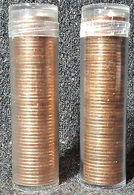 2 rolls 1964 Canadian Pennies in BU condition
