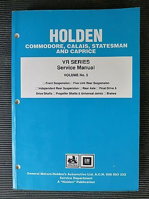 "HOLDEN  Commodore/CALAIS  "" VR series ""  Vol.2  genuine FACTORY SERVICE MANUAL"