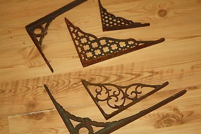 5 Rusty Ornate Shelf Brackets