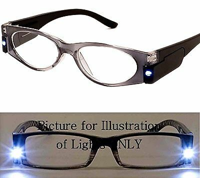 0fd2b38dc6ee +2.25 black and grey AJ Morgan Reading Glasses Night Light LED Lighted