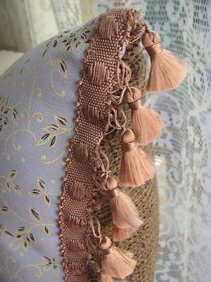 Cushion Cover embroidered Butterflies with tassel trim.