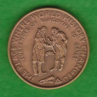 Schuylerville Ny Bicentennial Medal - The Place Where History Changed --- Pjhj