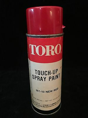 Vintage Toro Touch-Up Spray Paint Aerosol Can Color Red Paper Label