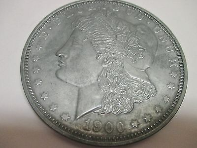 """Large 3"""" Diameter Novelty Metal 1900 One Dollar Coin"""