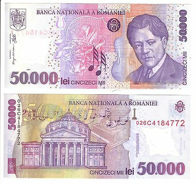 Romania 50,000 Lei Banknote - P113 - Uncirculated