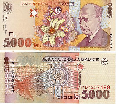 Romania 5,000 Lei Banknote - P107 - Uncirculated