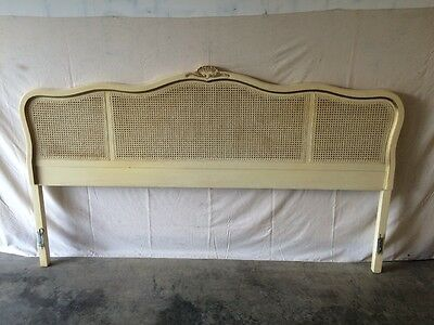 Vintage French Provincial King Size Headboard (Cain) Mid Century Modern