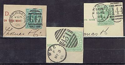 Great Britain.  9 x stamps on piece.  See description for further info.