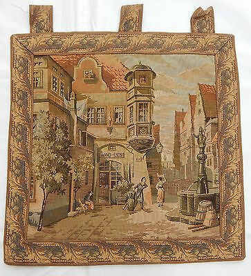 Vintage French Anno-1302 Tapestry Wall Hanging 57X58cm T50