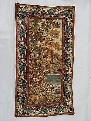 Vintage French Beautiful Verdure Scene Tapestry 54x28cm (T606)