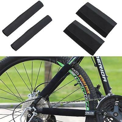 2Pcs MTB Bike Bicycle Cycle Rear Fork Frame Chain Protector Cover Pad Guard B0T7
