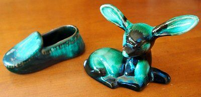 BLUE MOUNTAIN POTTERY & McMASTER CRAFT set of 2 - Deer Shoe Fawn Slipper