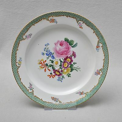 Meissen Flower Painting with Schuppenrand, Plate, 23 cm, Knauf Time 1.wahl