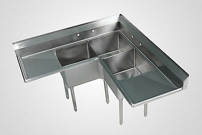 Stainless Steel Commercial Corner Sink