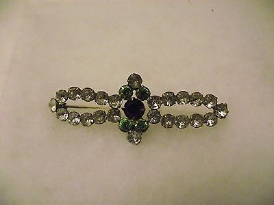 Suffragette  Style Brooch C1920/30's Classic Period Colors Super Size!