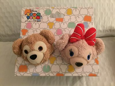 Nwt Disney Hkdl Exclusive Valentine's Day Duffy Shellie May Bear Tsum Set