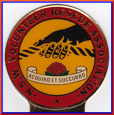 Colourful N.S.W. VOLUNTEER RESCUE ASSOCIATION Car badge