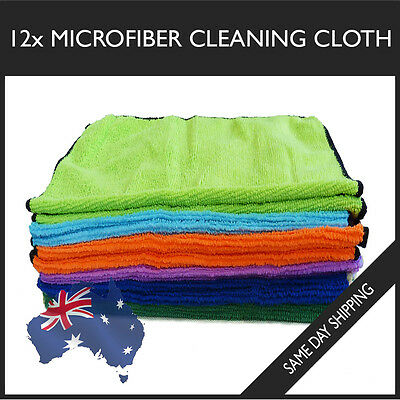 12x Microfiber Cleaning Cloth Towels Extra Large Car Thick Ultra Soft Microfibre