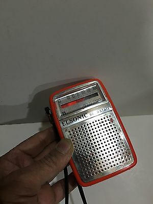 Vintage Elsonic Pocket Radio  Am(Mw)- Band From The 1960S