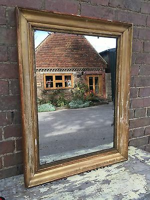 Antique Mirror French Wood And Gesso Frame