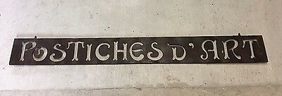 Original French Antique Trade Sign - Wig Makers - Postiches D'art