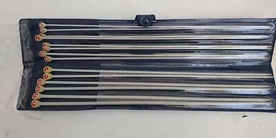Milward Knitting Needle Set  - 7 Pairs from 2 3/4mm to 5mm 35cm long