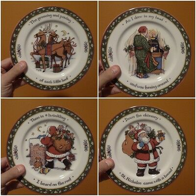 SUSAN WINGET International China A Christmas Story 4 pc Salad Plate Series 2 Set
