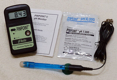 American Marine Pinpoint PH Meter Monitor With Calibration Fluids