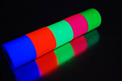 2 Inch UV Blacklight Reactive Fluorescent Gaffer Tape 1 Roll x 6 YDS