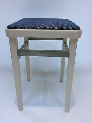 c1950's Hand Painted And Reupholstered Stool