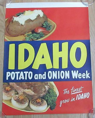 Authentic Vintage 1950 Idaho Potato Poster Free Shipping