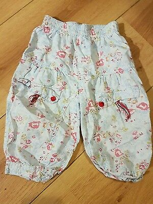 girls floral catimini trousers age 2