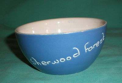 """Vintage Devon/Torquay ware bowl blue and white """"Sherwood Forest"""" 4"""""""