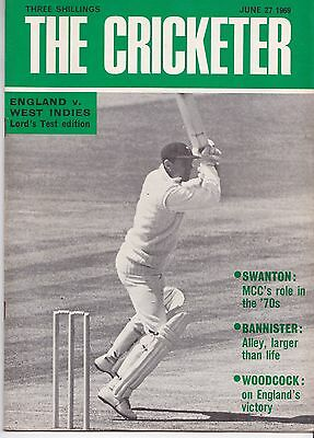 The Cricketer magazine June 27 1969 England v West Indies Lords issue G Boycott