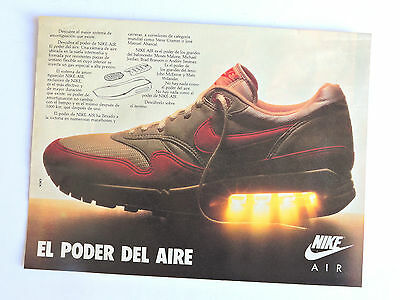 Publicidad NIKE Air / Anuncio Advert Publicite Reklame Sneaker Shoes Spanish Ad