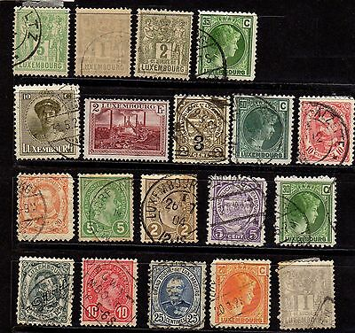 Stamps ~  Selection LUXEMBURG LUXEMBOURG ~ Unsorted #1