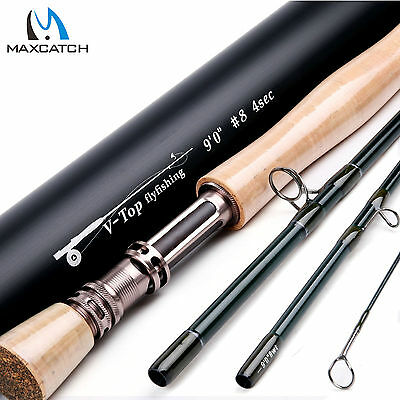 Maxcatch 8WT 9FT 4Sec Fast Action Graphite(IM12) Fly Fishing Rod & Aluminum Tube