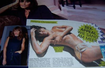 Helena Christensen 70 pc German Clippings