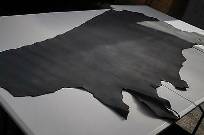 Black crust Cowhide side 1.96 sq m Cow leather smooth flexible