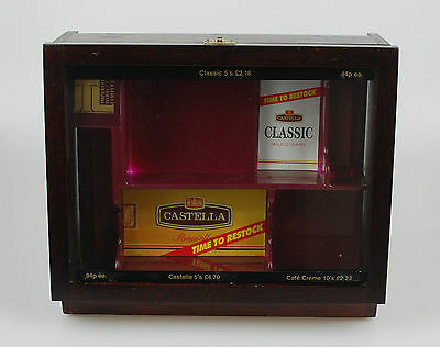 Castella Cigar Counter Top Display Case with Advertising