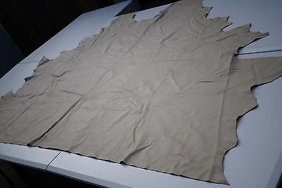 Beige Upholstery Cowhide Partial hide 190 x 121cm Grainy leather