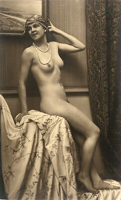 Nude Risque Erotic Vintage Victorian Reproduction Borderless Photo 7x5x190g