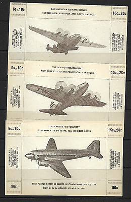 Cinderella USA  1941 Air Stamps - Poster Stamps - Faults (3)