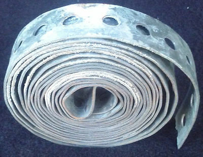 Vintage Yeck hanger iron plumbing tape perforate galvanized