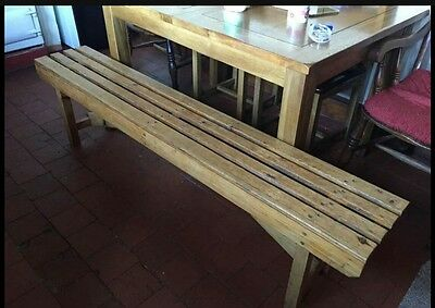 vintage pine school/gym bench