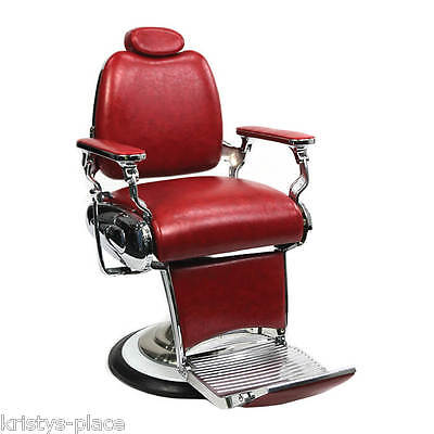 Barber Culture El Chapo Barber Chair Red New Rrp $1699.00