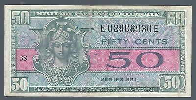 Series 521 Military Payment Certificate 50 Cents